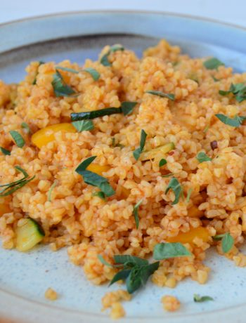 Harissa Bulgur Wheat Salad