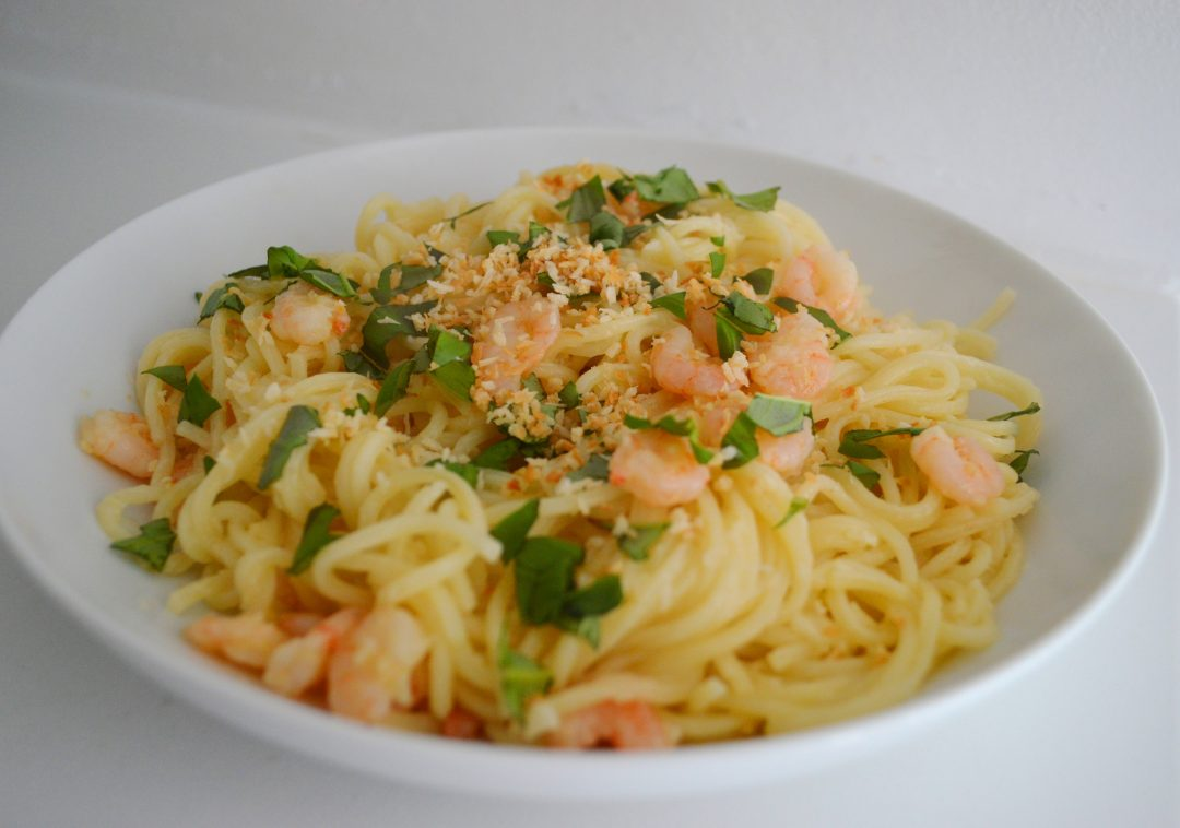 Garlic Prawn Linguini