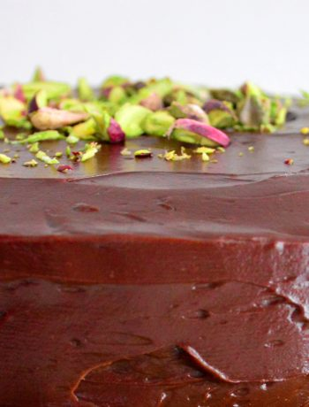 Chocolate Courgette Pistachio Cake